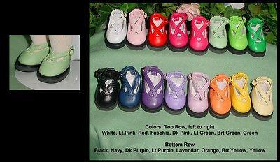 "45mm Cutie Kriss Kross WHITE fits 10/"" Patsy Ann Estelle DOLL Shoes"