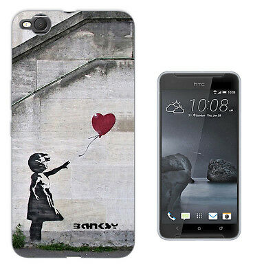 545 Banksy Balloon Girl Case Cover For HTC 10 M8 M9 A9 X9 DESIRE 530 610 825