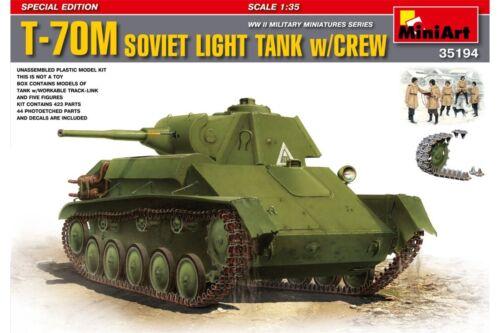 Miniart 35194 1//35 T-70M Soviet Light Tank w//Crew
