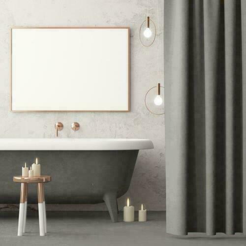 Luxury Plain And Mosaic Bathroom Shower Curtain 180 x 180 cm Hooks Included