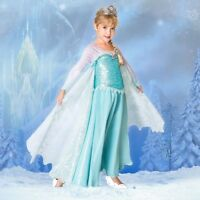 LE~Limited Edition~ELSA~COSTUME Dress + Rhinestone TIARA~Frozen~NWT~Disney Store
