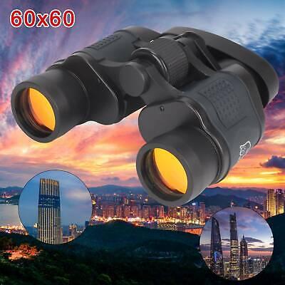 60x60 Day/&Night Military Army Zoom Powerful Binoculars Optics Hunting Camping UK
