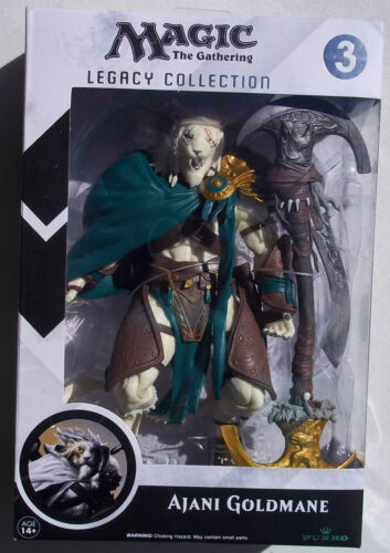 MAGIC THE GATHERING NO LEGACY COLLECTION FIGURE 3 NEW IN BOX AJANI GOLDMANE