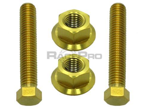 Suzuki RM250 RacePro Gold Titanium Axle Chain Adjuster Bolts