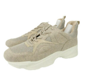 Steve-Madden-Mens-Sneakers-MOVER-Beige-Athletic-Dad-Shoes-Size-10