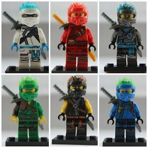 Ninjago-Fire-Ninjas-6-X-Mini-Figure-Use-With-Lego-Lloyd-Kai-Nya-Cole-Jay-Zane