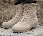 Fashion Military COMBAT Boots Zipper Desert Tan Waterproof Tactical Police New