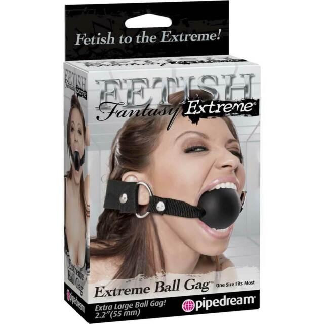 Pipedream Extreme Fetish Fantasy Extreme Ball Gag 2.25 inch Black