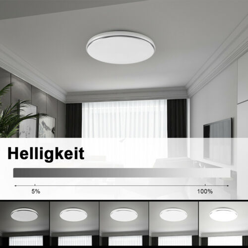 LED Deckenlampe 62W Deckenleuchte Dimmbar Badleuchte Badezimmer Küche Flur