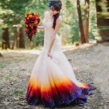 New Colorful Organza Wedding Dresses Formal Mermaid Bridal Gowns Custom Size