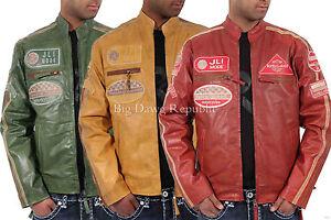 Motociclisti Vintage Vero Jli Pelle Designer Giacca Di Uomo Aviatrix nW7q1ZF