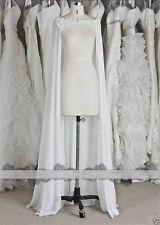 White/ivory Chiffon Wraps Wedding Jacket Bridal Cloak Lace Bridal Dress's Cape