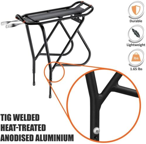 Bicycle Touring Carrier with Fender Board Ibera Bike Rack Frame-Mounted for