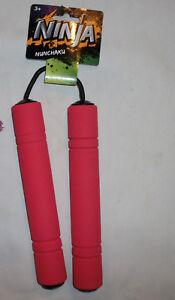 Ninja Toy Nunchaku Foam Nunchucks for Kids Practice RED