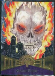 1995-Marvel-Metal-Silver-Flasher-Trading-Card-59-Ghost-Rider