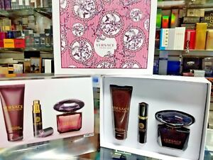 Versace Crystal Noir Perfume Women 3 Pc. GIFT SET 3 oz EDP Spray ... e4450b2da5e7e
