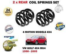 FOR VW GOLF MK4 4 MOTION 1.8 2.0 1.9 2.3 V5 2.8 V6 TDI 2 x REAR COIL SPRING SET
