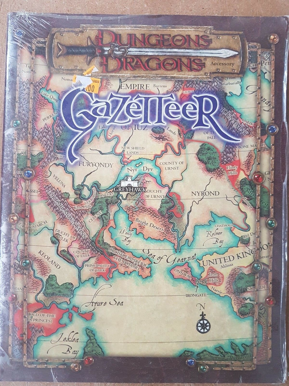 GAZETTEER DUNGEONS & DRAGONS - D20 SYSTEM - WIZARDS OF THE COAST NEW & SEALED
