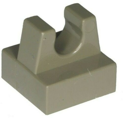 Missing Lego Brick 2555 OldDkGray x 4 Tile 1 x 1 with Clip