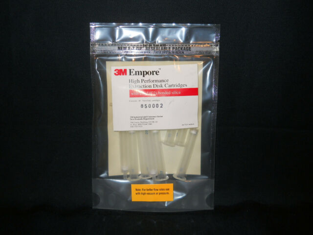 (10) 3M Empore 3mL Ethyl C2 Bonded Silica 7mm Extraction Disk Cartridges