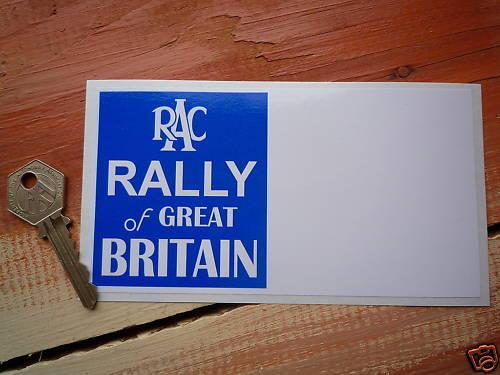 RAC RALLY of GB classic road rally car 150mm sticker