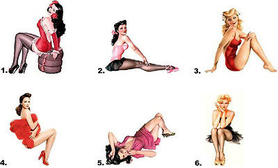 Waterslide Nail Decals Set of 20 - Vintage Sexy Pin Up Girl - you choose