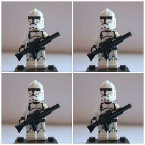 STAR Wars Bianco Commando TEMPESTA Clone Troopers MINI FIGURES utilizzare con LEGO 1 Jedi