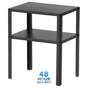 Détails Sur Chevet Armoire Ikea Knarrevik Métal Noir Table Basse Avec Plateau 37x28cm Afficher Le Titre D Origine