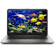 "HP 17.3"" Silver Laptop Computer 8GB 1TB Quad-core Windows 10 Bluetooth DVD Wifi"