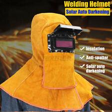 New Solar Auto Darkening Filter Lens Leather Welder Hood Welding Helmet Mask Usa
