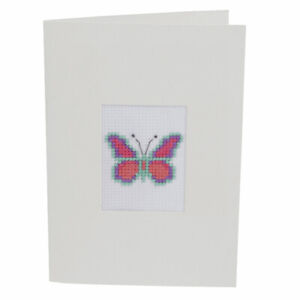 LAST FEW - Sewing Kit to Make a Cross Stitch Butterfly Greeting Card