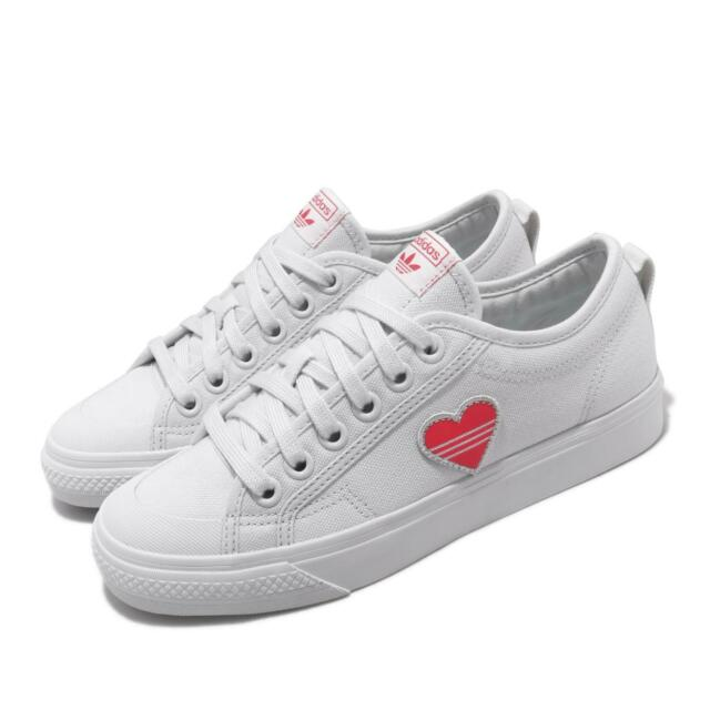 facultativo Bourgeon demostración  adidas Originals Nizza Trefoil W Valentines Day White Red Womens Shoes  EF5074 | eBay