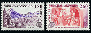 Andorra French 307-308, MNH. EUROPA CEPT. Catalane Gold Works, 1983