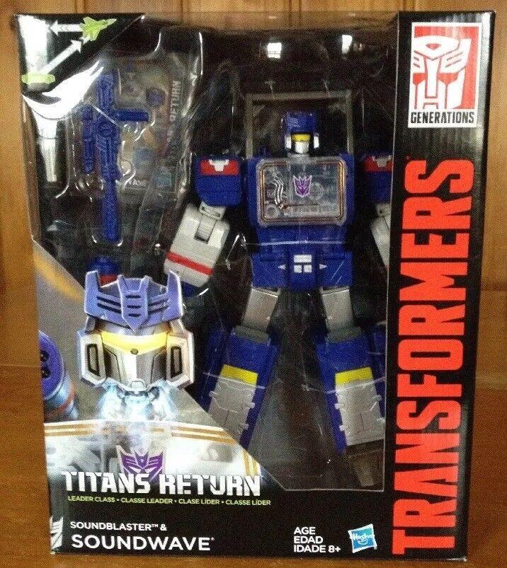 nuovo Transformers Generations Titans Return Leader suonowave Blaster Mold MISB