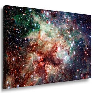 Spiralgalaxie im Weltall Leinwandbild Wanddeko Kunstdruck