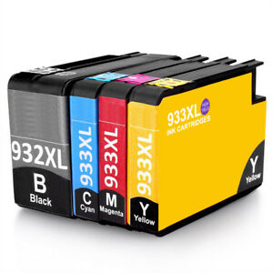 4x-Chipped-Ink-Cartridge-932XL-933XL-for-HP-Officejet-6100-6600-6700-7510