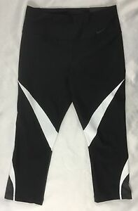 Black Size Women's Dri Capris Legend Leggings S 833326 fit Tight Nike White gq0vw