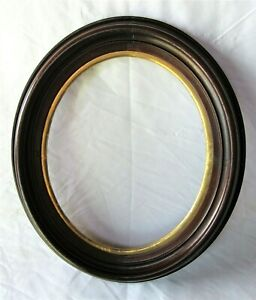 """Antique Fits 10"""" x 12"""" Oval Gold Gilt Wood Eastlake Folk Art Primitive Victorian"""