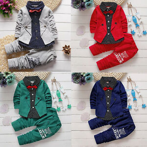 2pcs-Toddler-Kids-Baby-Boy-T-shirt-Tops-Long-Pants-Trousers-Outfit-Gentleman-Set
