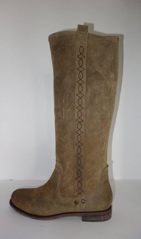 New OTBT Putney Knee High Pull On Riding Stiefel US Größe 8.5 M Suede Tan