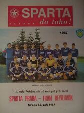 Programm EC 1987/88 Sparta Praha - FRAM Reykjavik