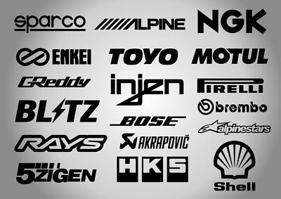 RACING STICKER HKS Car Window Bumper JDM VW Vinyl Sponsor Decal