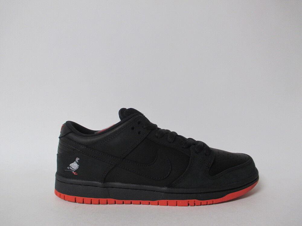 Nike sb schiacciare basso nero fiocco rosso sienna sz sz sz 4 883232-008 piccione 5f2664