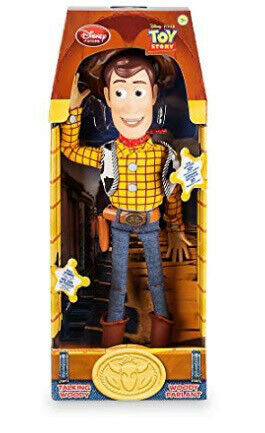 "Toy Story Pull String Woody 16/"" Talking Figure over 30 different Woody phrases"