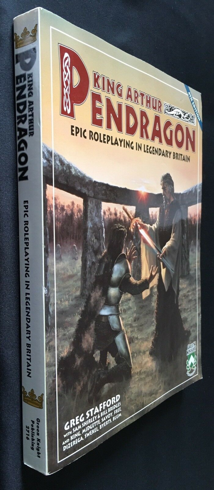 King Arthur PENDRAGON - 4th Edition - Green Knight 2716 - Epic Roleplaying