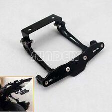 Universal Black CNC Billet Motorcycle Tail Tidy Lisence Plate Bracket H 1 Stock