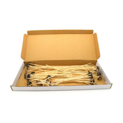 10 x 3 12 cm 8 5 10 50 x pre ciré mèches pour candle making avec SUSTAINERS