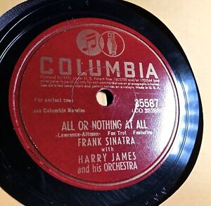 HARRY JAMES / FRANK SINATRA 1940 Columbia 35587 - All or Nothing at All