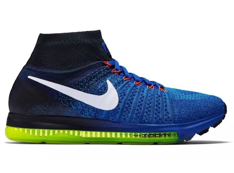 Women's Nike Zoom All Out Flyknit Size Blue/White/Obsidian 8 (845361 401) Racer Blue/White/Obsidian Size 3467a8