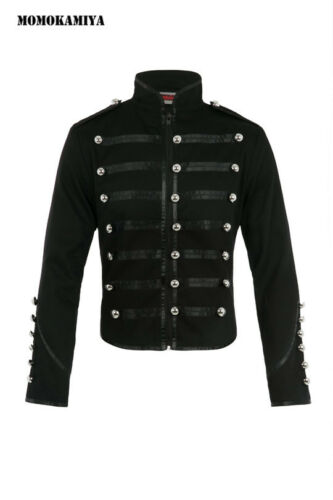 JAWBREAKER MEN JACKET DJK4480 BLACK MILITARY PUNK METAL PARTY FESTIVAL UK S-XL